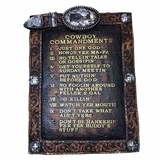 Western Moments Cowboy 10 Commandments 94634