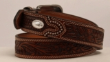 M&F Embossed Leather Oval Concho Belt 2427808