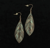 M&F Feather Patina Earrings 30836