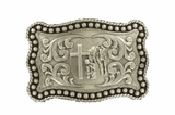 M&F Rectangle Praying Cowboy Belt Buckle 3759059