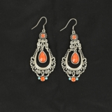 M&F Scroll Chandelier Earrings 30434