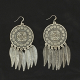 M&F Silver Dreamcatcher Earrings 30504