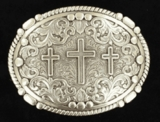 M&F Three Cross Belt Buckle 37980
