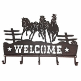M&F Welcome Sign Horse Hooks 94052