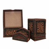 Western Floral 3 pc. Desk Set 94775