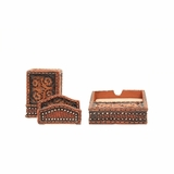 M&F Western Floral 3 pc. Desk Set 94775
