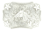 M&F Youth Horse Star Rectangle Belt Buckle 3603007