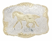 Mare & Colt - Belt Buckle by Crumrine C00242