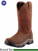 Men's Ariat Distressed Brown Terrain Pull On H2O Boots 10011829
