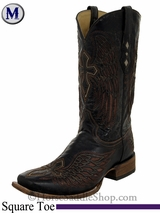 Men's Corral Distressed Brown Wing & Cross Boots A1978