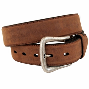 Men's Nocona Brown Distressed Leather Belt 2450044