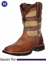Men's Rebel by Durango Faded Patriotic Flag Western Boot DDB0078