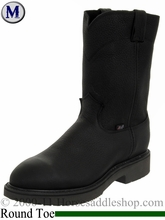 Men's Steel Toe Justin Cowboy Workboot - Black 4767