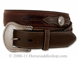Men's Top Hand Western Belt - Brown 2474002