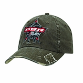 Mens Distressed Brown Ballcap with PBR Logo 1570002