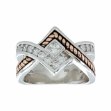 Montana Silversmiths Clasped in Rope and Star Light Ring RG154-7