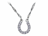 Montana Silversmiths Crystal Clear Lucky Horseshoe Necklace NC62