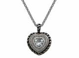Montana Silversmiths Crystal Heart in a Heart in a Heart Pendant Necklace NC1237