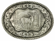 Montana Silversmiths Deer Scene Classic Antiqued Attitude Belt Buckle 61003