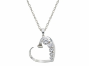 Montana Silversmiths Silver & Shine Horseshoe Nail Heart Necklace NC1136