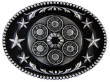 Montana Silversmiths Six Shooter Star Attitude Belt Buckle A208RTS