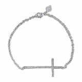 Montana Silversmiths The Straight Path Cross Bracelet in Bright BC2015CZ