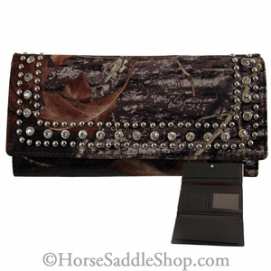 Mossy Oak Camo Checkbook Cover/Wallet with Rhinestones N74379222