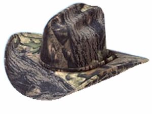 Mossy Oak Cowboy Hat - Camouflage Hat with Camouflage Headband 71400222