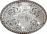 Nocona Ladies Buckle - Horse Head and Rhinestones