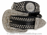 Nocona Ladies Scalloped Black Belt n3416201