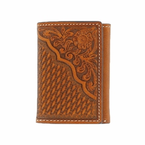 Nocona Pro Series Tooled Tri-Fold Wallet N5446608
