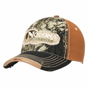 Nocona Tan Mossy Oak Camo Ball Cap with Logo 15054222