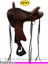 "DISCONTINUED 15"" 16"" Crates Lightweight Endurance Trail Saddle 5000"