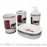 Outhouse Bathroom 4 piece Decor Set by M&F 94738