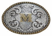 Oval Initial Buckle by Nocona Belt Co. Choose Your Letter 37072