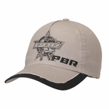 PBR Mens Grey and Black Logo Ball Cap 1512306