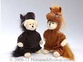 Plush Bears in Horse Costumes Stuffed Animals 87-98930