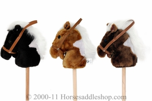 Plush Rodeo Toy Stick Horses by M&F 50538