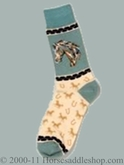 Premium Adult Western Socks Horse Head 89-9904-0-583