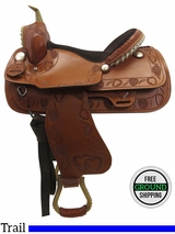 PRICE REDUCED! 14.5 Big Horn Medium Trail Saddle 1936, Floor Model usbh3353 *Free Shipping*