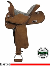 """PRICE REDUCED! 14"""" Used Big Horn Wide Barrel Saddle 1574, Floor Model usbh3360 *Free Shipping*"""