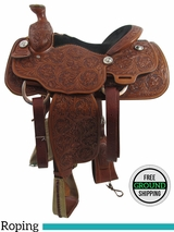 "PRICE REDUCED! 14"" Billy Cook Wide Roping Saddle 2056, Floor Model usbi3359 *Free Shipping*"