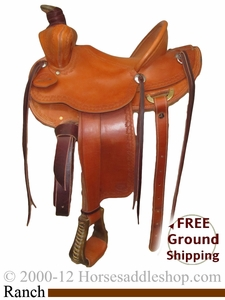 "SOLD 2014/09/24 $1749 PRICE REDUCED!! 14"" Used Dan High Maker Ranch Saddle usdh2404 *Free Shipping*"