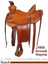 "NO LONGER AVAILABLE PRICE REDUCED!! 14"" Used Dan High Maker Ranch Saddle usdh2404 *Free Shipping*"