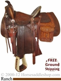 "PRICE REDUCED! 14"" Used Ranch Saddle uscu2479 *Free Shipping*"