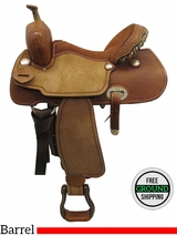 "SOLD 2016/04/22 PRICE REDUCED! 15.5"" Big Horn Wide Barrel Saddle 732145R, Floor Model usbh3367 *Free Shipping*"