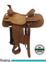 "PRICE REDUCED! 15.5"" Billy Cook Wide Roper Saddle 2111, Floor Model usbi3352 *Free Shipping*"