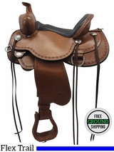 "2016/04/14 PRICE REDUCED! 15"" Circle Y Alpine WideFlex2 Trail Saddle 2377, Floor Model uscy3417 *Free Shipping*"