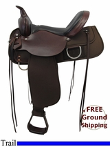"PRICE REDUCED! 15"" High Horse 'Lockhart' Cordura Trail Saddle 6910, Floor Model ushh3315 *Free Shipping*"