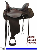 "PRICE REDUCED! 15"" High Horse 'Lockhart' Cordura Wide Trail Saddle 6910, Floor Model ushh3321 *Free Shipping*"